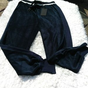 Kendall and Kylie Velour Cuffed Jogger Pants